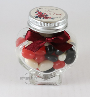 heart jar personalised favours