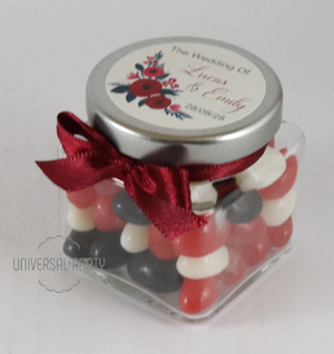 glass square jar personalised bombonieres favours