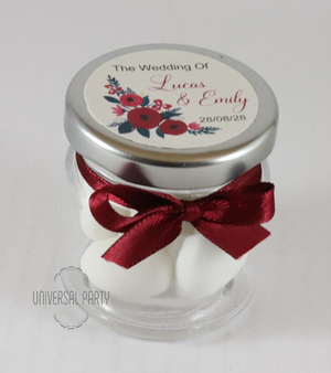 glass jar sugared almonds bombonieres favours