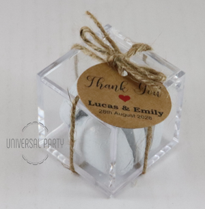 chocolate rustic favours