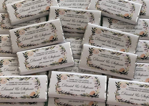 Greenery wedding chocolate bars