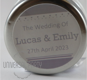 Personalised Round 60ml Jar Filled With White Sugared Almond