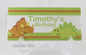 Personalised Dinosaur Themed Chocolate Bar