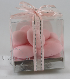 Personalised PVC Box Filled With Sugared Almond - Patterned