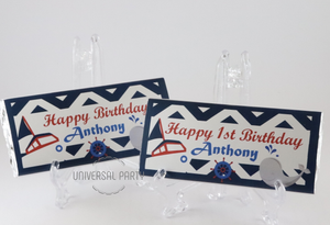 Personalised Nautical Themed Chocolate Bar
