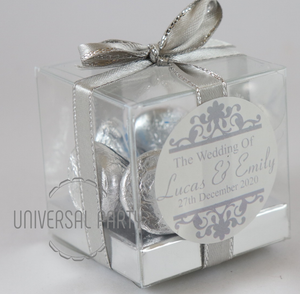 Personalised PVC Box Filled With Hersheys Kisses Chocolate