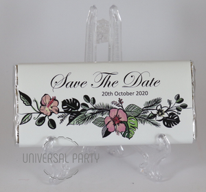 Personalised Floral Chocolate Bar