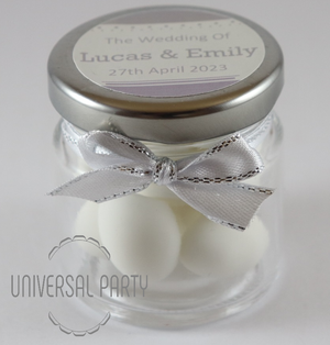 personalised wedding favour sugared almonds