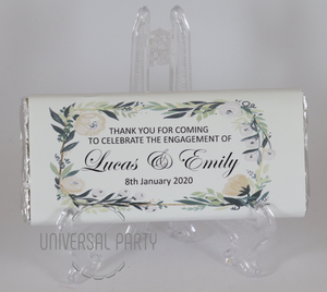 Personalised Greenery Floral Chocolate Bar