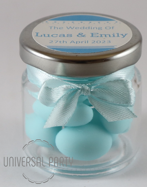 blue sugared almonds baptism bombonieres