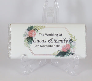 Personalised Floral Frame Chocolate Bar