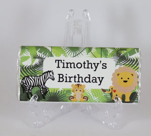 Personalised Animal Jungle Chocolate Bar