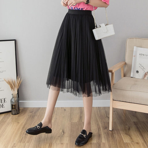 Tulle Skirts Womens Midi