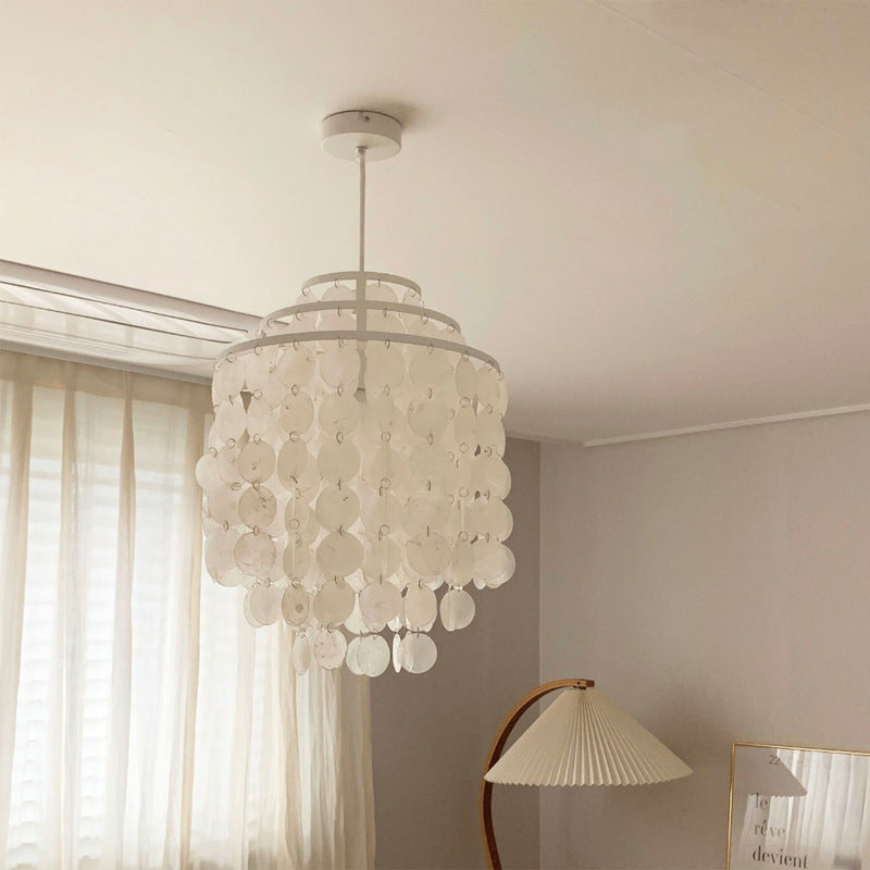 Creative Art Shell Pendant Lamps For Living Room
