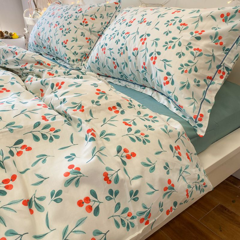 Cute Cherry 4 PCS Bedding Set For Girl
