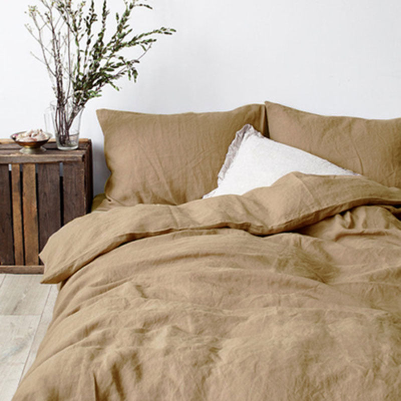 Natural Flax Duvet Cover With Pillowcase
