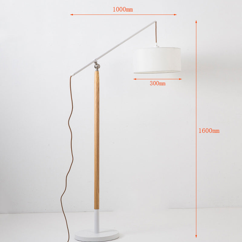 Modern Wood White Floor Lamp Home Tall Stand Up Lamp