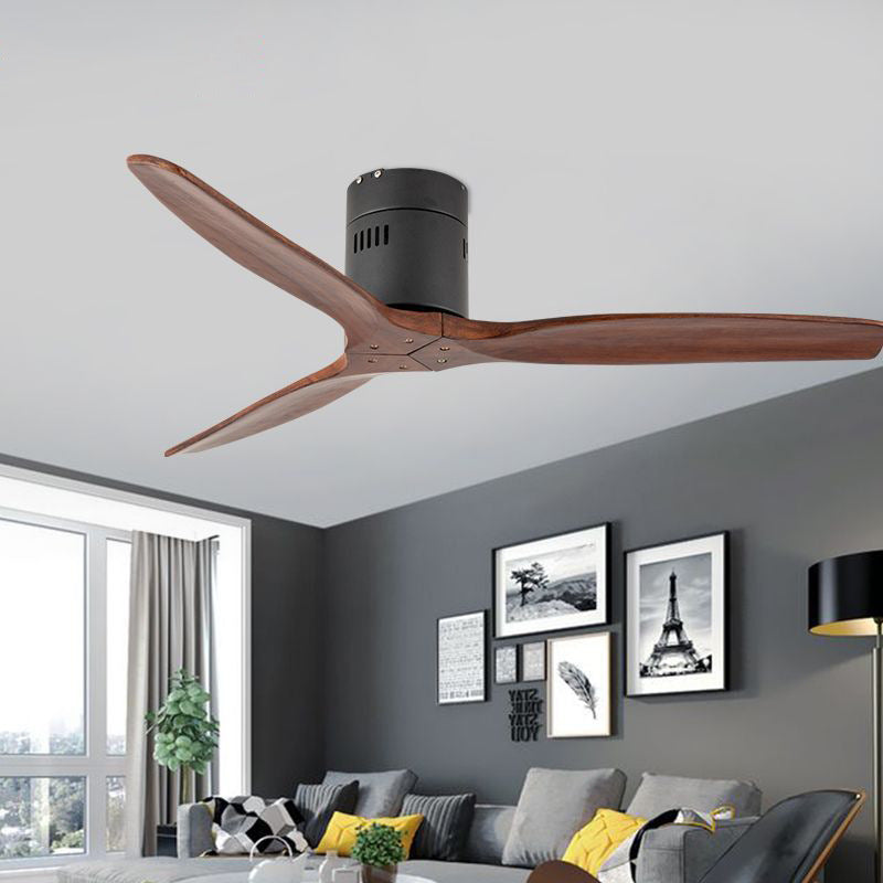 "52"" Vintage Wooden Ceiling Fan With Remote Control Frequency Conversion"