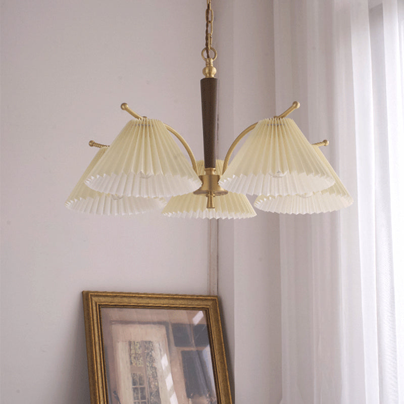American Copper Pleated Chandelier Nordic Pendant Lighting