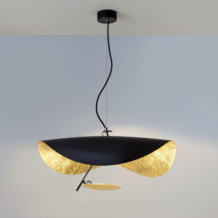 Creative Black Gold UFO Chandelier Modern Pendant Light Fixture