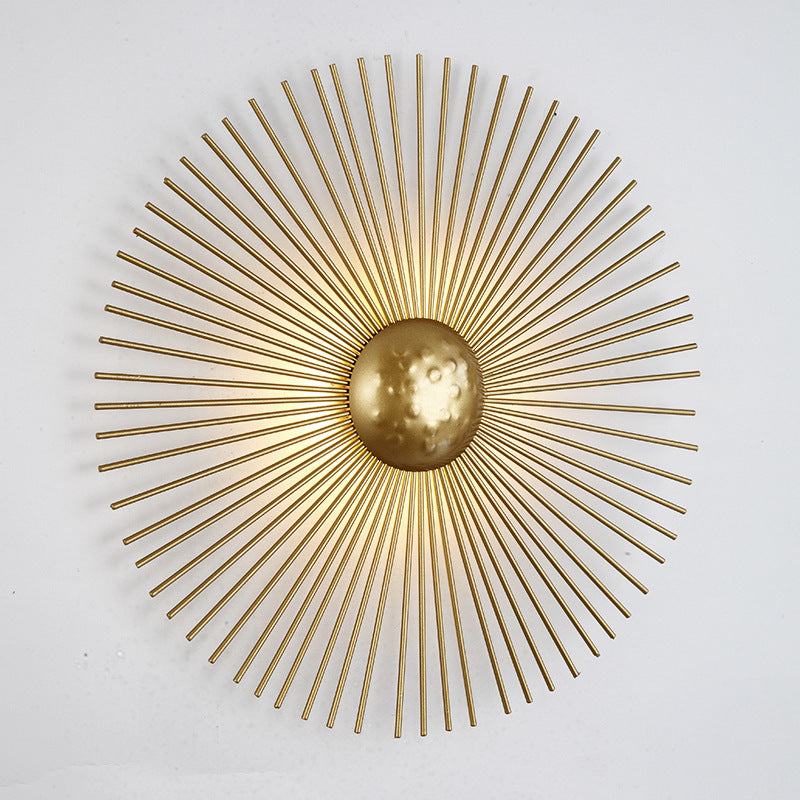 Minimalist Gold Solar Wall Lamp For Living Room