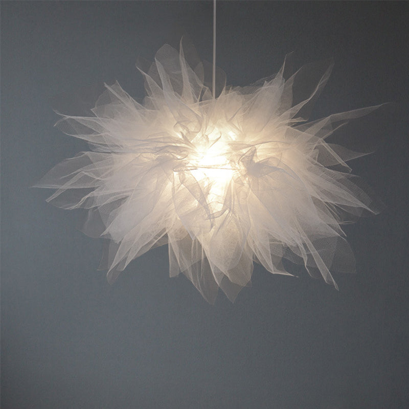 Nordic Romantic Tulle Chandelier Personality Pendant Light