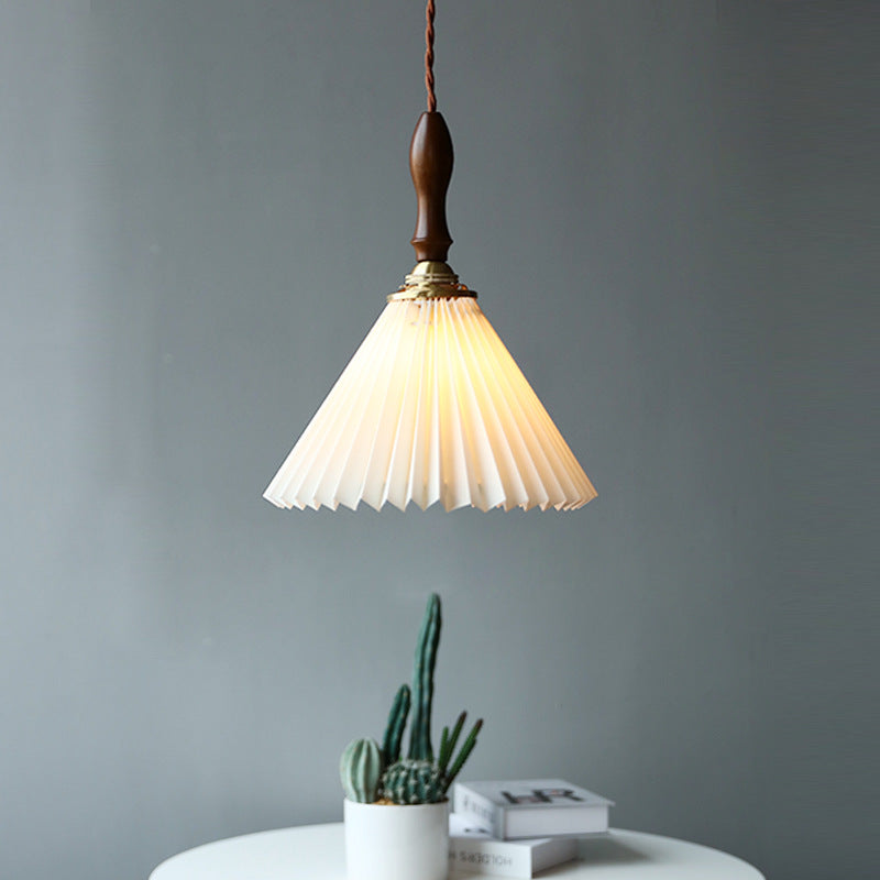 Vintange Pleated Pendant Lampshade Chandelier