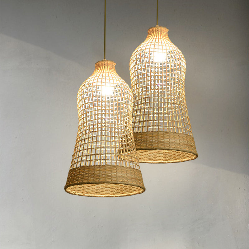 Handmade Bamboo Woven Lampshade For Dinning Room