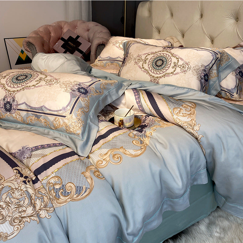 Nordic 4 Pcs Spring Quilt Cover Cotton Bedding Sets