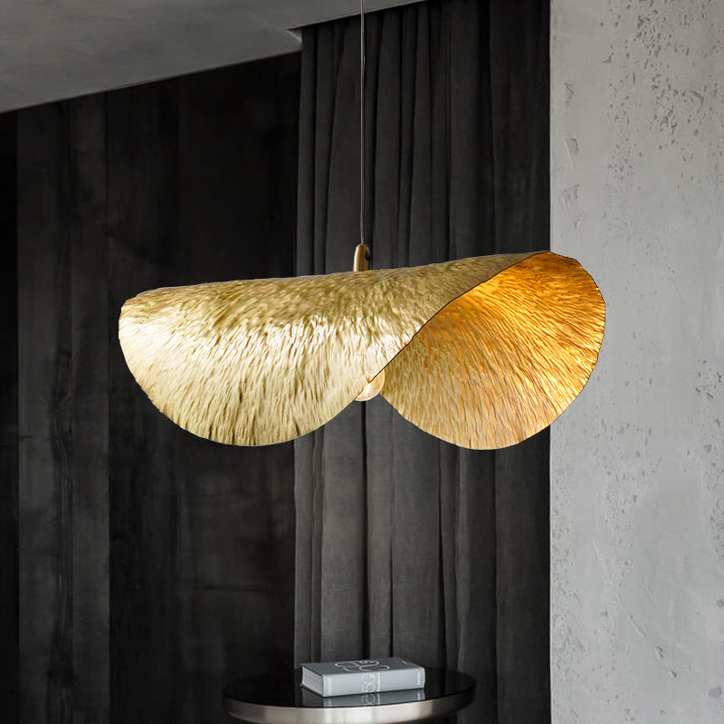 Design Lotus Leaf Metal Pendant Light Fixture For Dinning Room