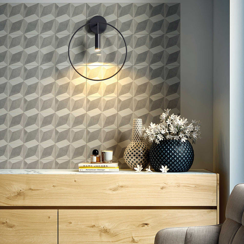 Nordic Metal Aisle Wall lamps Round Bedside Lamp