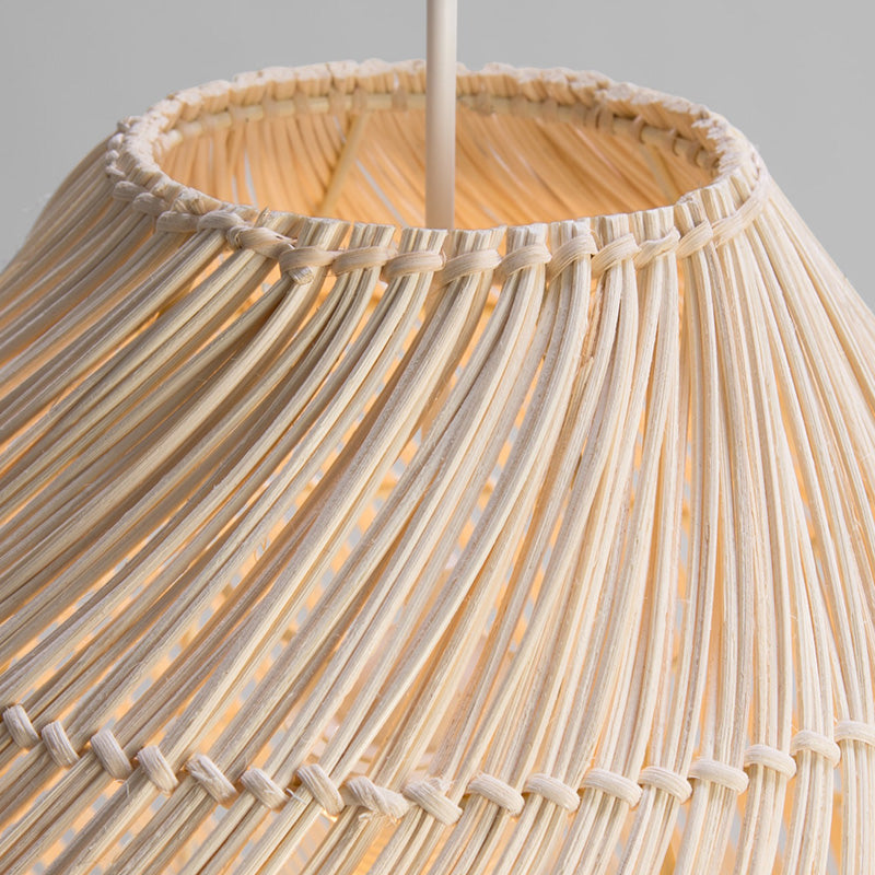 Rattan Woven Black Chandelier Handmade Pendant Lamp Shades For Bedroom