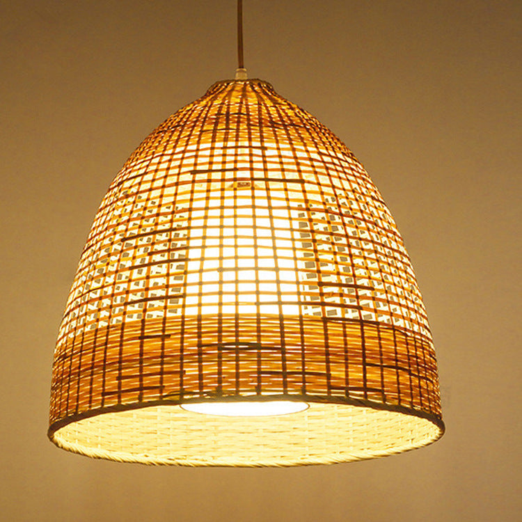 Handwoven Bamboo Chandelier Country Pendant Lampshade