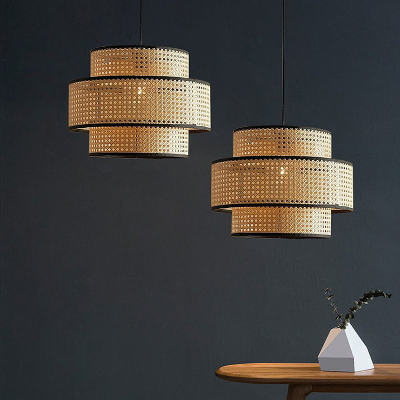 Creative Rattan Weaving Lamps Hanging Lampshade