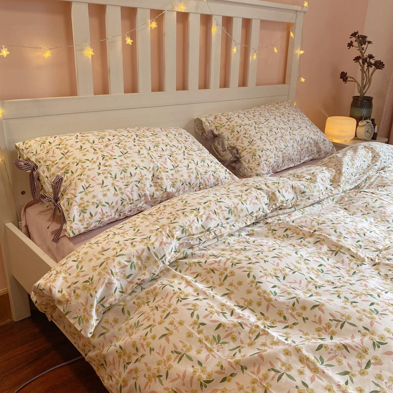 Floral Printed Cotton Bedding Sets Duvet Cover Set