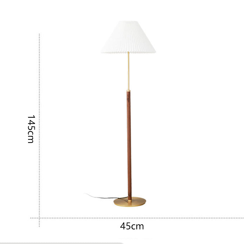 Vintage Wooden Floor Lamp Tall Standing Light For Living Room