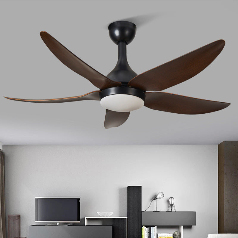 Wooden Remote Control Ceiling Fan With Lights