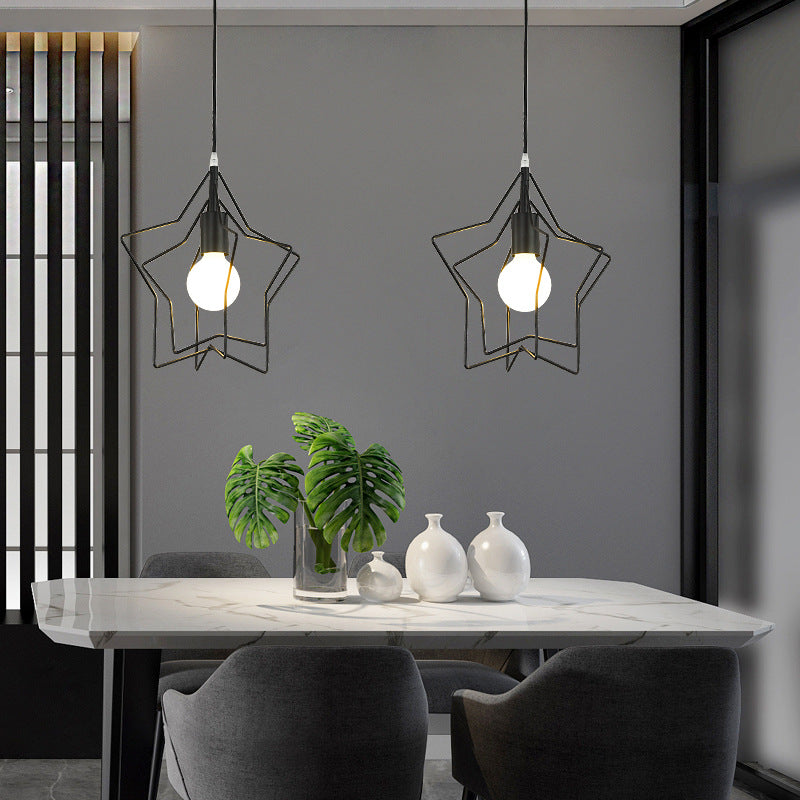 Creative Pentagram Chandelier Modern Pendant Light For Living Room
