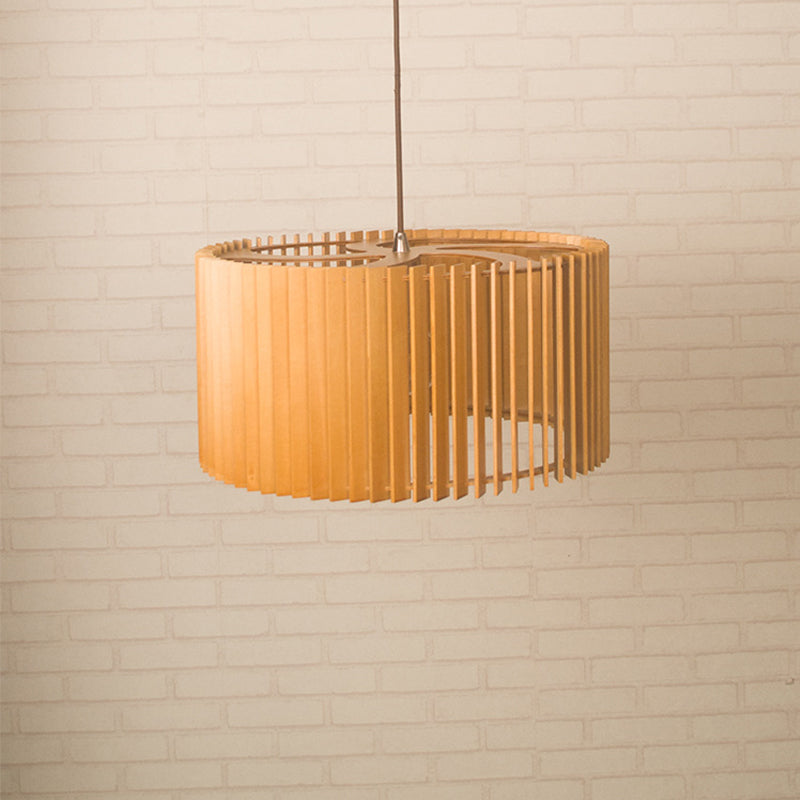 Handmade Wooden Pendant Lampshade Hanging Lighting