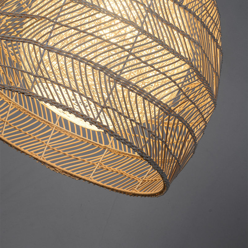 Simple Basket Rattan Wicker Pendant Light Lampshade