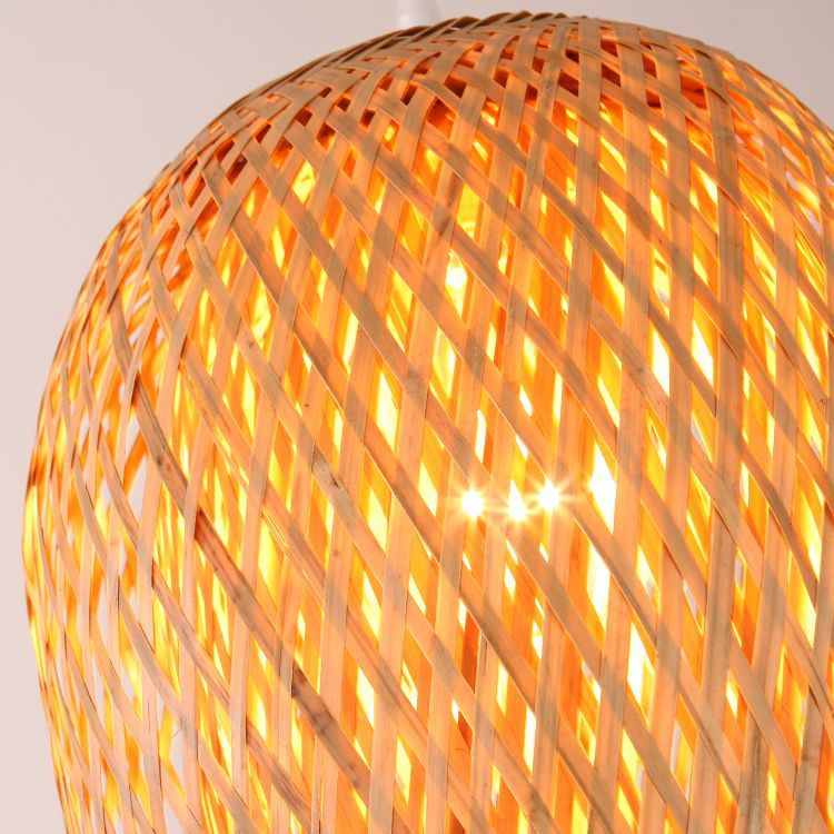 Natural Bamboo Woven Pendant Light Lampshade