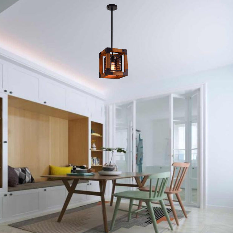 Country Vintange Wooden Pendant Light