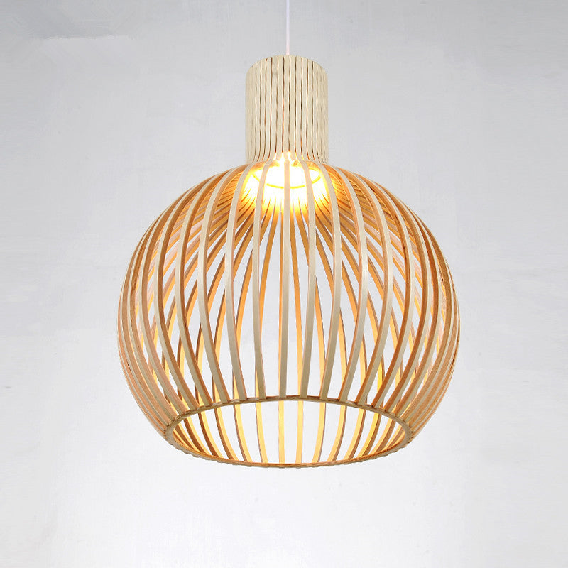 Handmade Wooden Lampshade Country Birdcage Chandelier