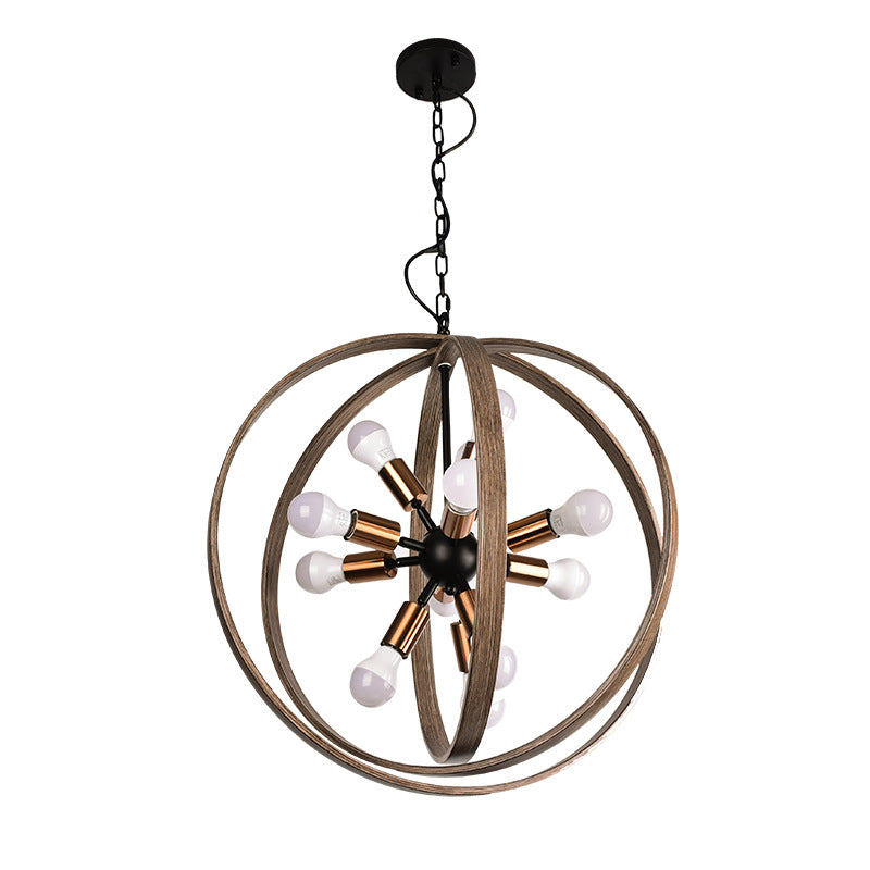 American Retro Wrought Iron Ceiling Chandelier