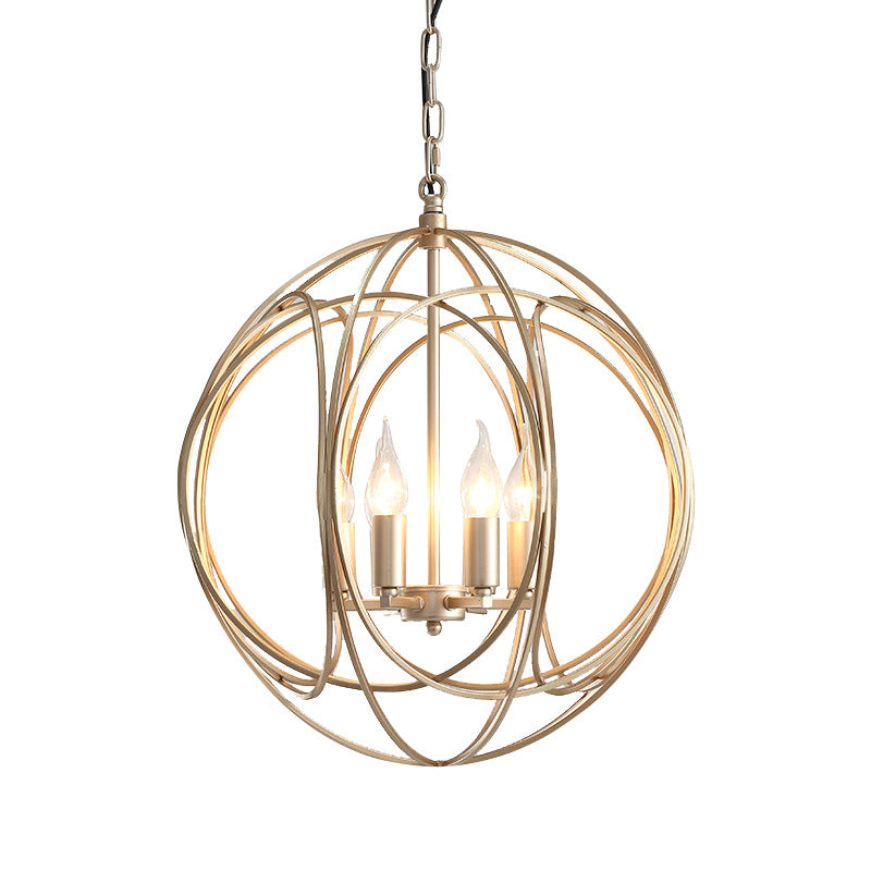 Mordern Round Gold Pendant Light Creative Chandelier