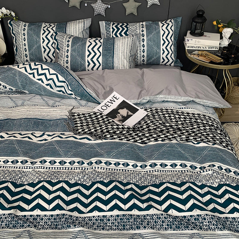 Nordic 4Pcs Beding Set Duvet Cover Set Pillowcase
