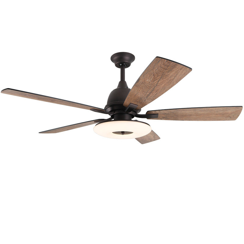 "52"" Retro Remote Control Ceiling Fan With Light"