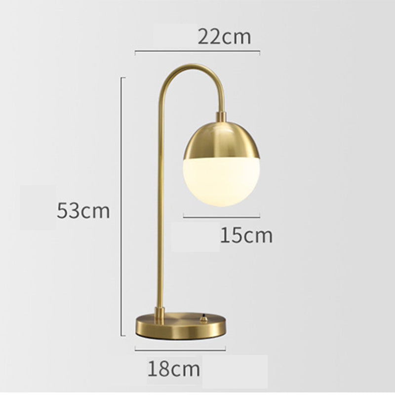 Retro Copper Bedside Lamp Simple Table Lamp