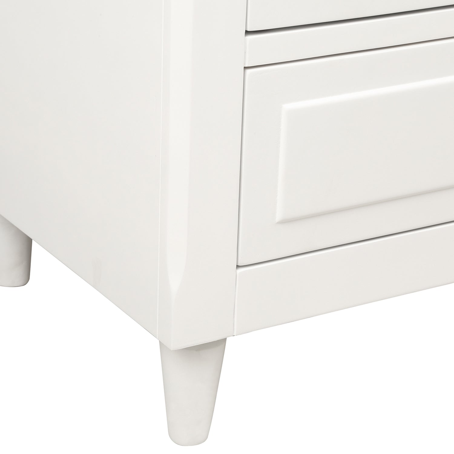 3 - Drawer Wood Nightstand Storage
