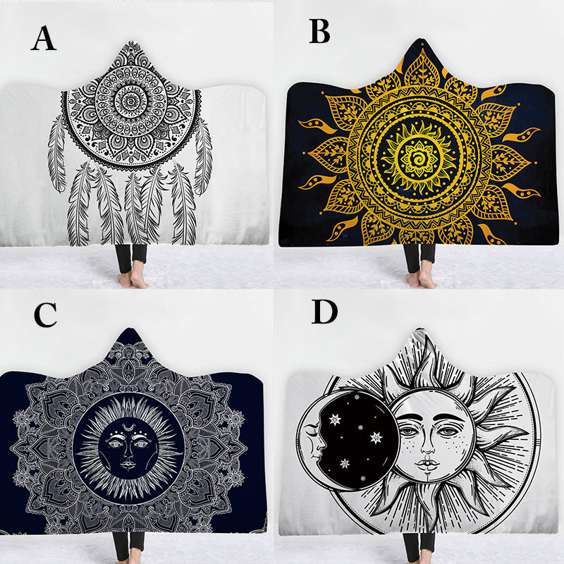 Mandala Hooded Blanket For Adults and Childs